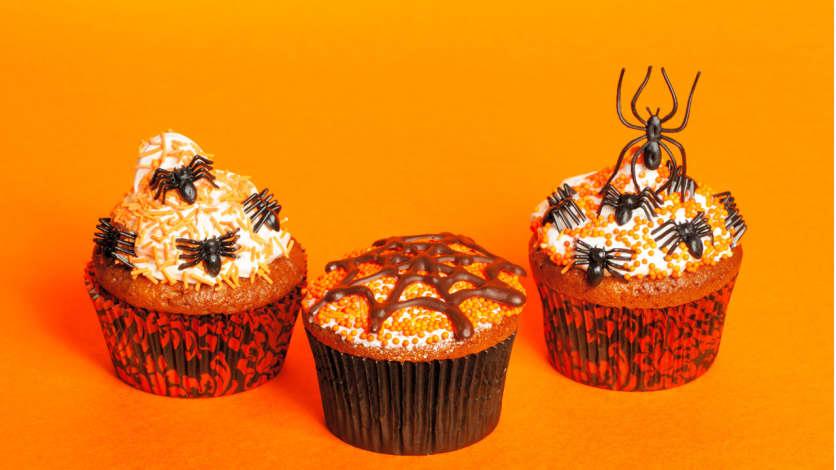 Photo Recette Cupcakes Effrayants à la Citrouille