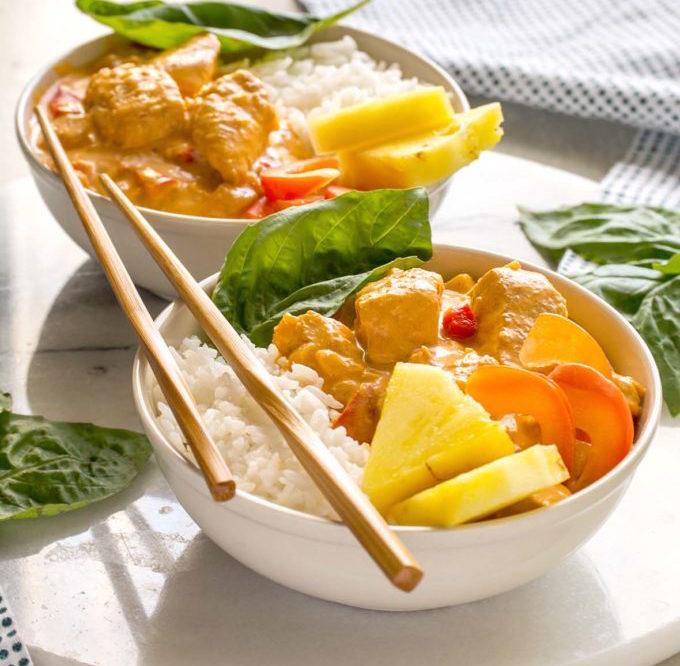Photo Recette Curry Thaïlandais à la Noix de Coco et à la Dinde