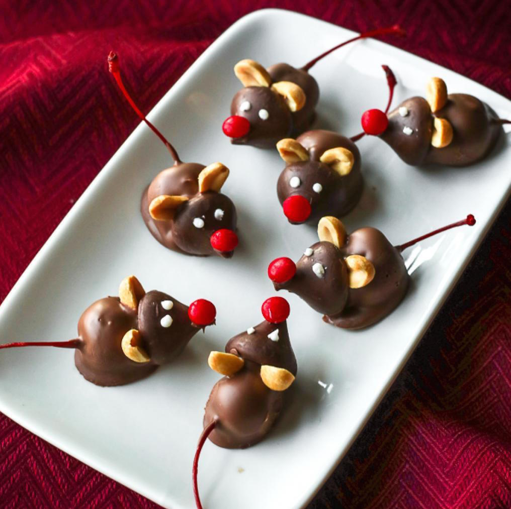 Douceurs de Noël: De Mignonnes Souris Cerise et Chocolat