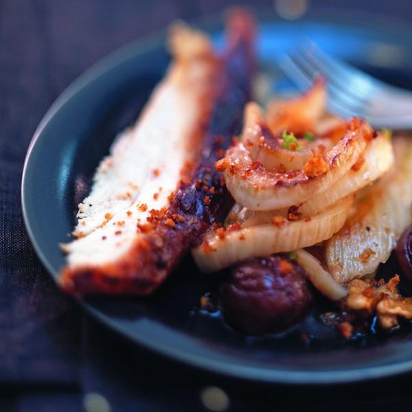 Dinde au Fenouil et aux Marrons