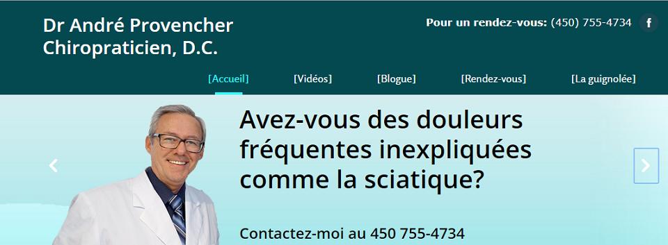 Dr. André Provencher Chiropraticien, D.C. en Ligne