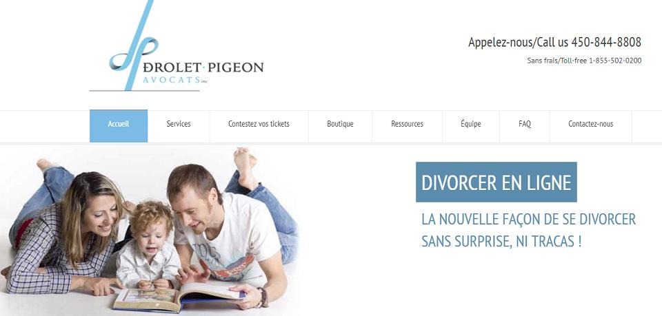 Drolet Pigeon Avocats Inc. en Ligne