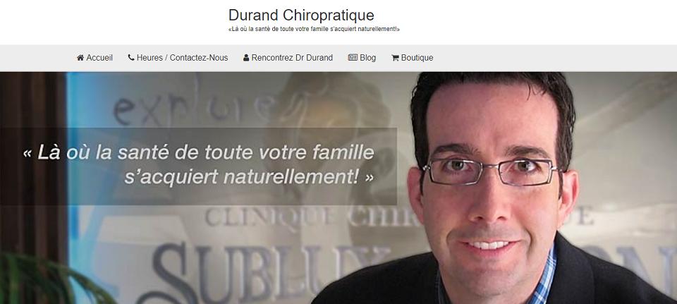 Durand Chiropratique en Ligne