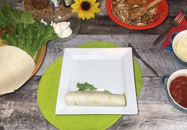 Fajitas au Poulet et Légumes Sautés 2