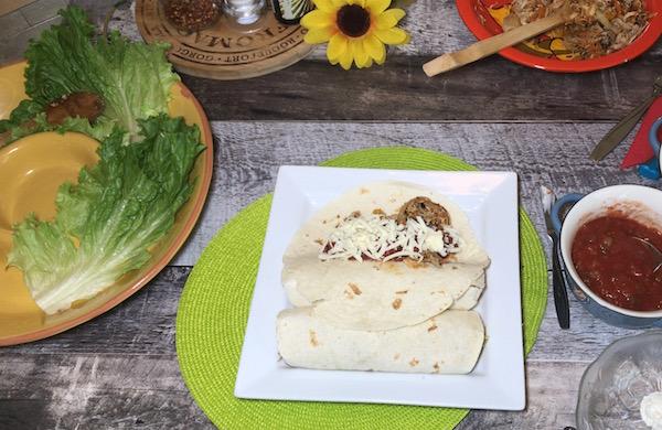 Fajitas au Poulet et Légumes Sautés 4