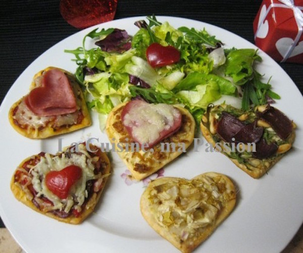 Photo Recette Farandole de Minis Pizza en ♥♥♥