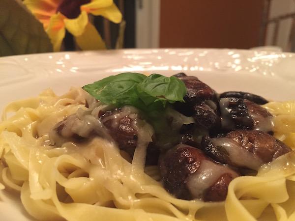 Fettucini Crème Champignon 1