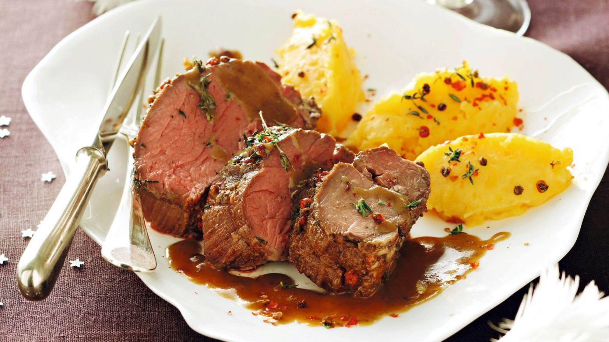 Photo Recette Filet de Chevreuil au Jus D'érable et Purée de Patates Douces