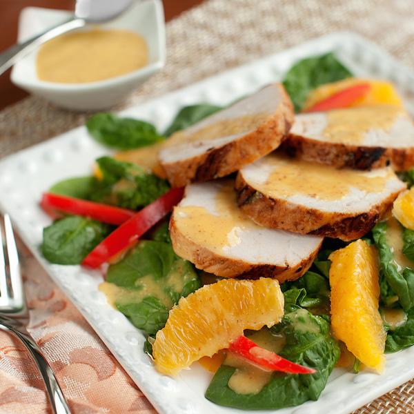 Filet de Porc aux Agrumes avec Salade d'épinards