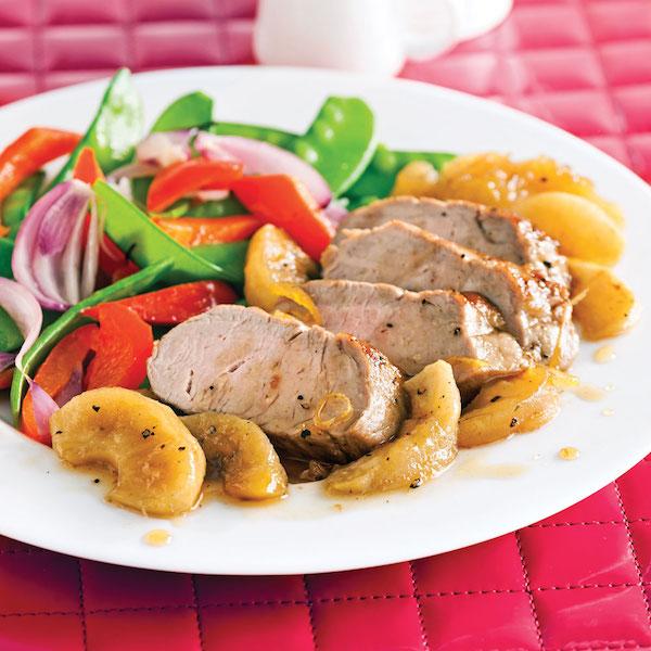Filet de Porc Caramélisé aux Pommes