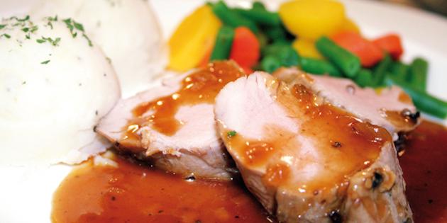 Filet de Porc Sauce aux Pommes et Romarin
