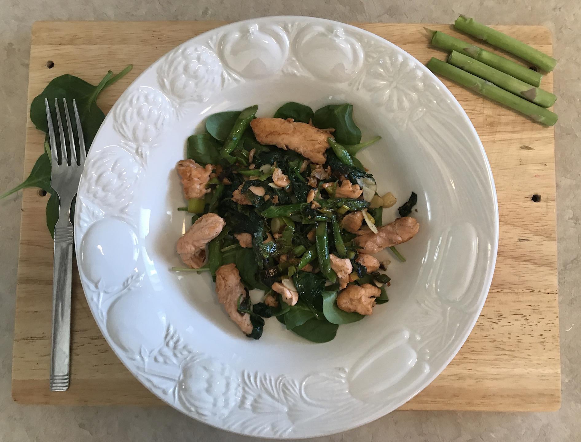 Photo Recette Filet de Saumon sur Lit de Légumes Verts