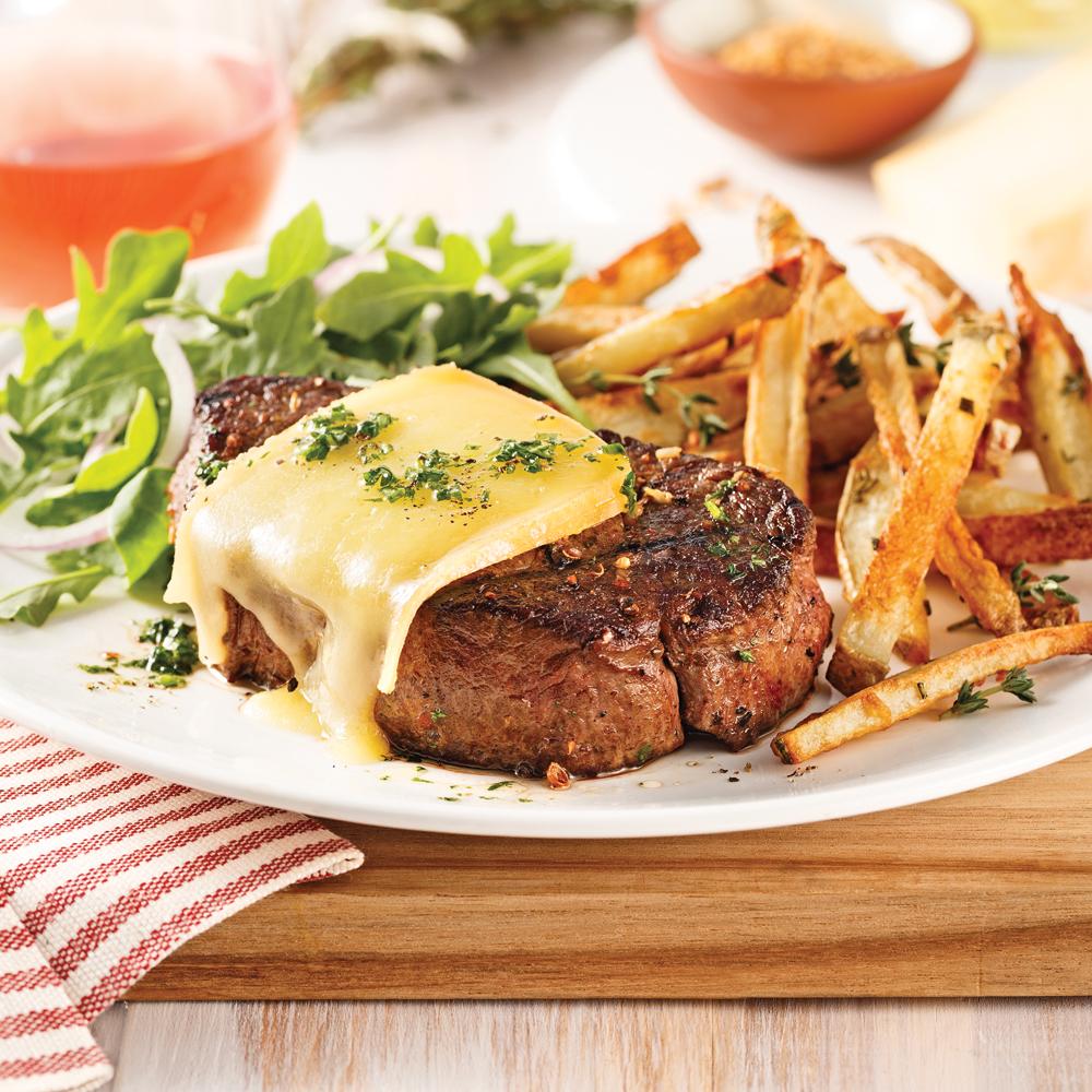 Photo Recette Filet Mignon au Fromage et Épices à Steak