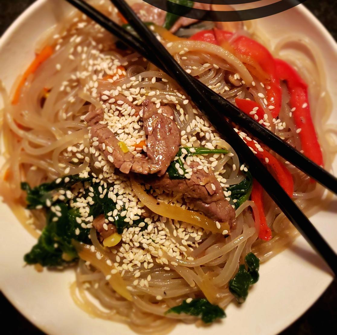 Photo Recette Filet-Mignon de Boeuf aux Légumes & Vermicelles à la Coréenne