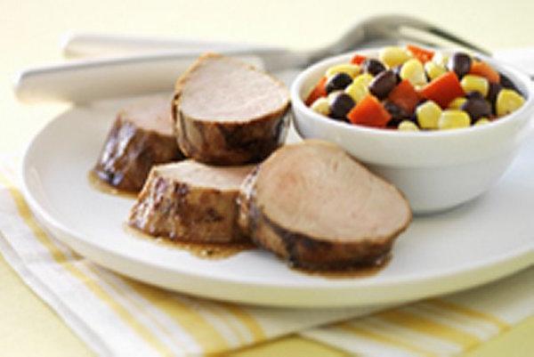 Filets de Porc Grillés et Relish au Maïs et aux Poivrons