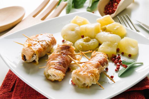 Filets de Poulet Roulés au Jambon et au Fromage
