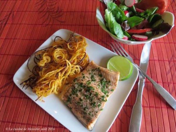 Filets de Truite Poêlés + Frites en Spirales + de Messidor