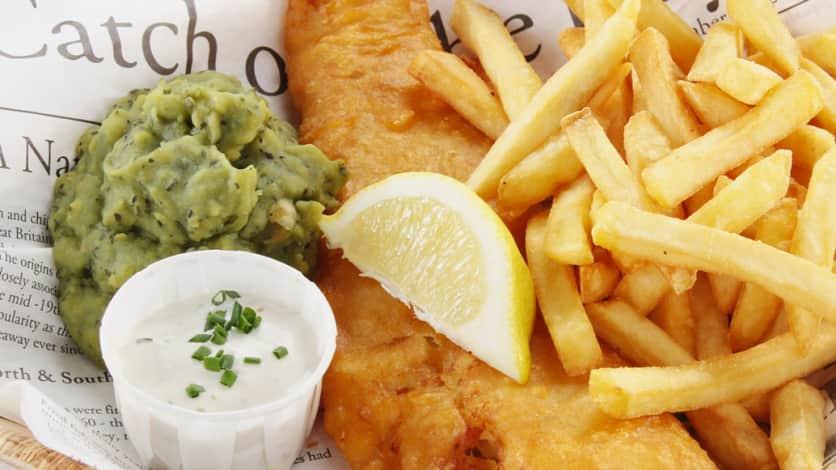 Photo Recette Fish and Chips de Morue et Purée de Petits Pois