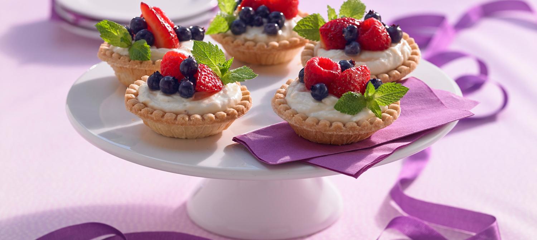 Tartelettes aux Fruits Frais et Mascarpone