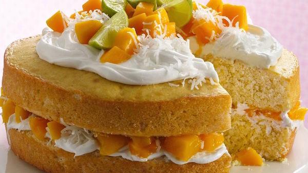 Gâteau à Étages à la Mangue
