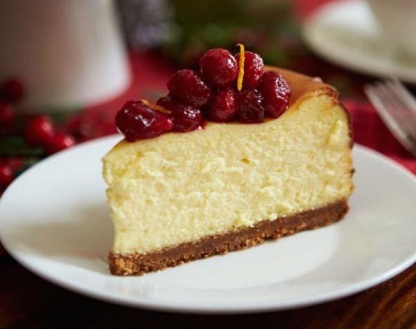Gâteau au Fromage aux Canneberges sur Pain D'épice