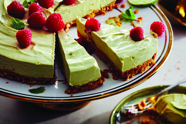 Gâteau au Fromage Sans Cuisson lime Avocat et Noix de Coco