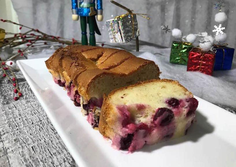 Gâteau aux Canneberges pour Noel