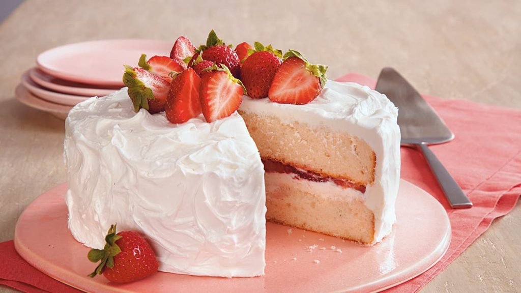 Gâteau aux Fraises Divin