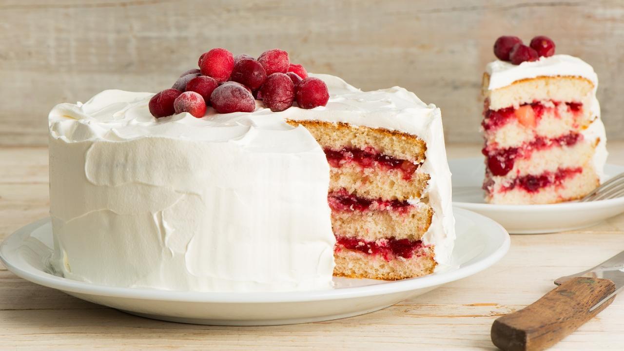 Gâteau Chantilly aux Canneberges
