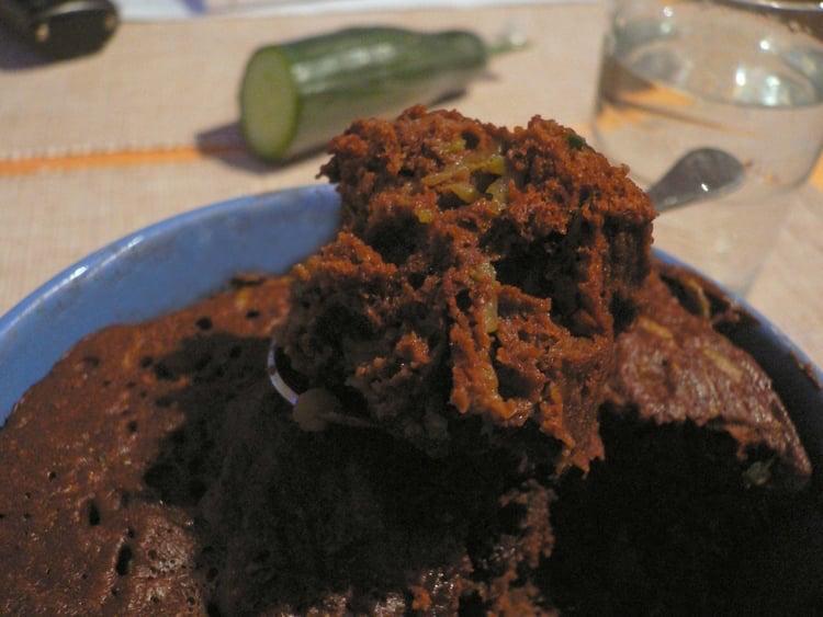 Photo Recette Gâteau Choco-Concombre au Micro-ondes