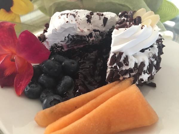 Gâteau Chocolat Coulis de Fruit et Crème 2