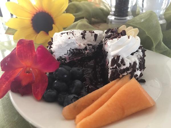 Gâteau Chocolat Coulis de Fruit et Crème Fouettée