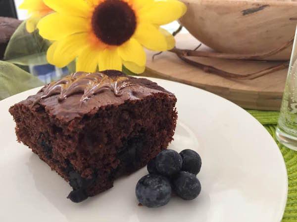 Gâteau Chocolat et Bleuets