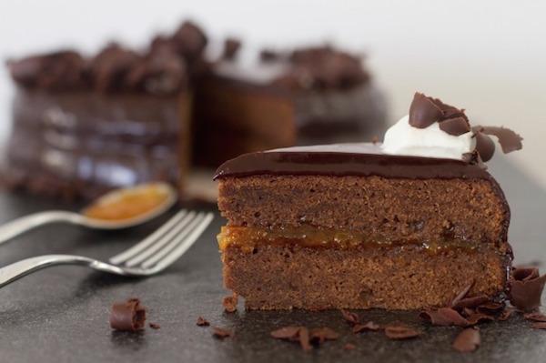 Gâteau Chocolat et Confiture D'abricot