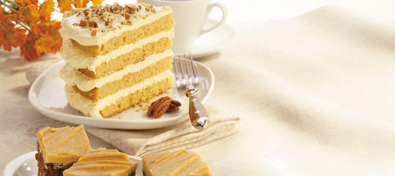 Gâteau Crémeux aux Noix et à L'érable
