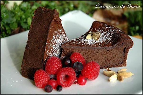Gâteau Crémeux Chocolat et Cardamome