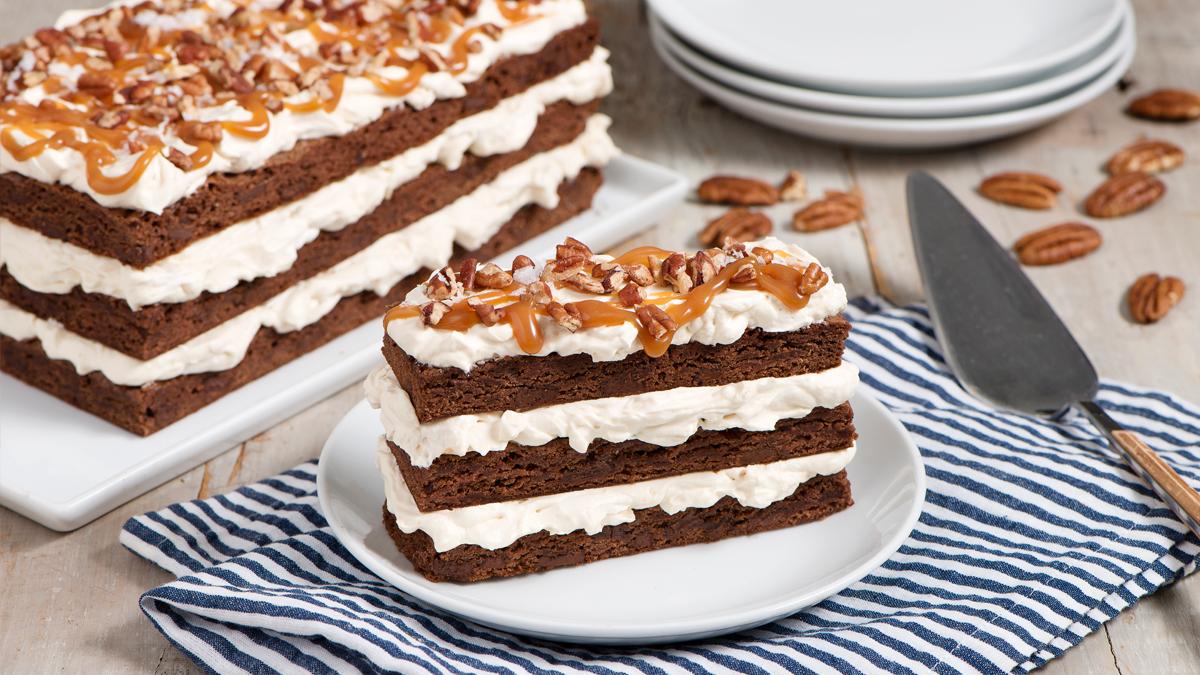 Gâteau de Brownies au Caramel Salé