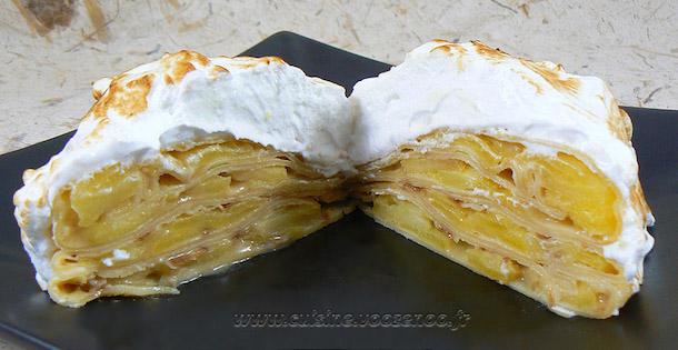 Gâteau de Crêpes aux Pommes Caramel Beurre Salé et Meringue Italienne