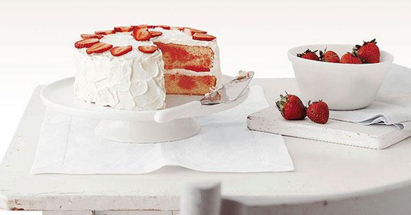 Gâteau Marbré aux Fraises (fête des mères)