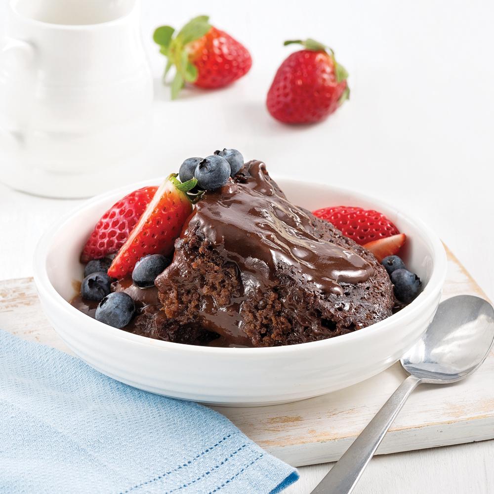 Photo Recette Gâteau-pouding au Chocolat à la Mijoteuse