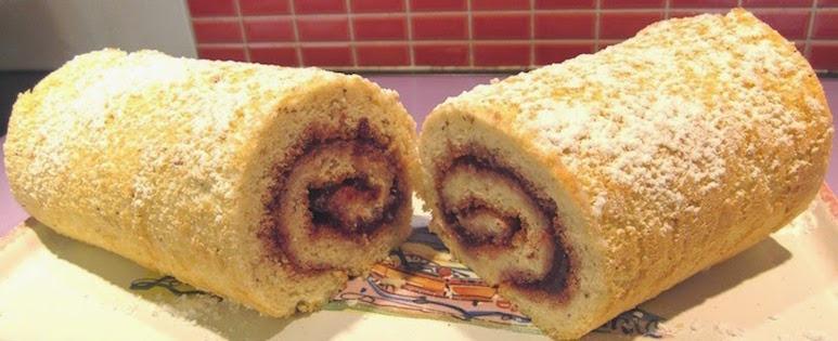 Photo Recette Gâteau Roulé Sans Gluten à la Confiture ou au Nutella