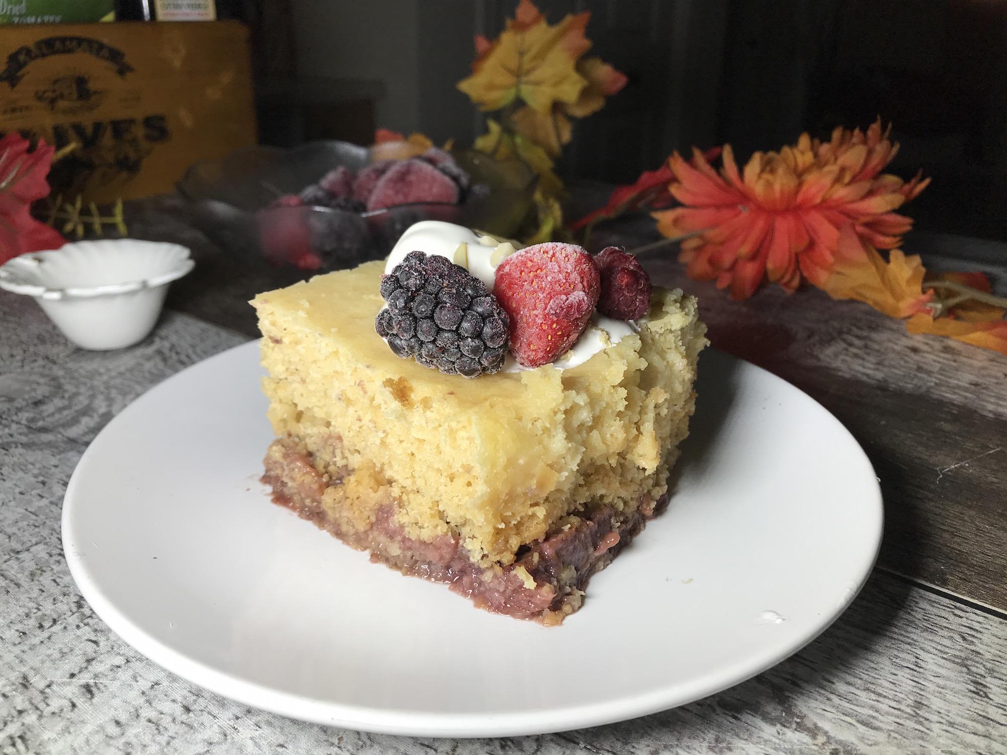 Gâteau Vanille aux Fruits Rouges à la Mijoteuse