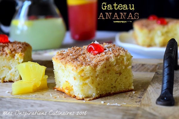 Photo Recette Gâteau à L'ananas Moelleux