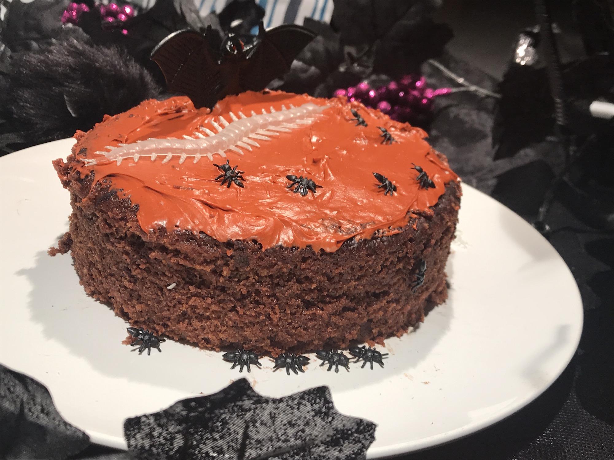 Gâteau au Chocolat, Glaçage Orange pour L'halloween