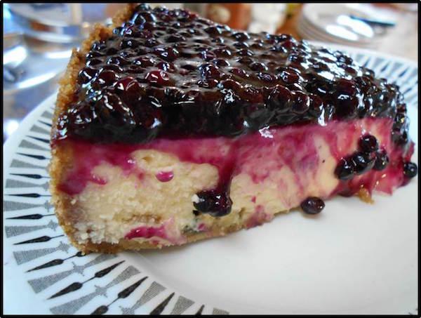 Gâteau au Fromage, Garniture de Sureau à L'érable