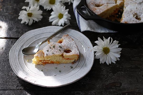 Gâteau aux Abricots et au Thym