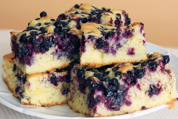 Gâteau aux Bleuets Frais