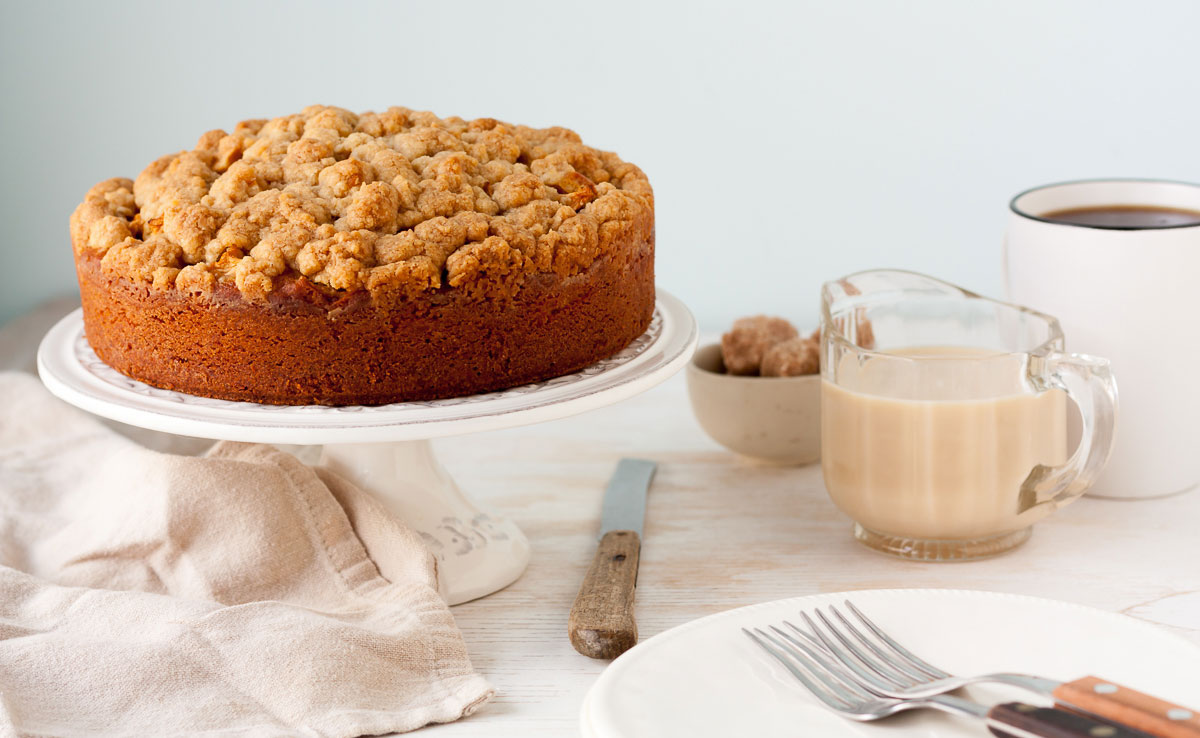 Gâteau aux Pommes et au Caramel Latte