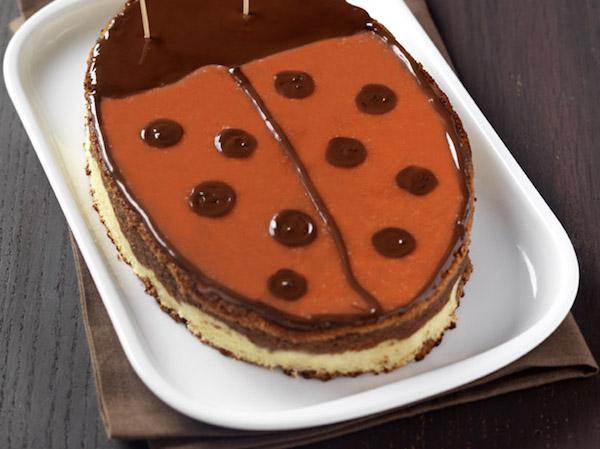 Photo Recette Gâteau Coccinelle au Chocolat au Lait