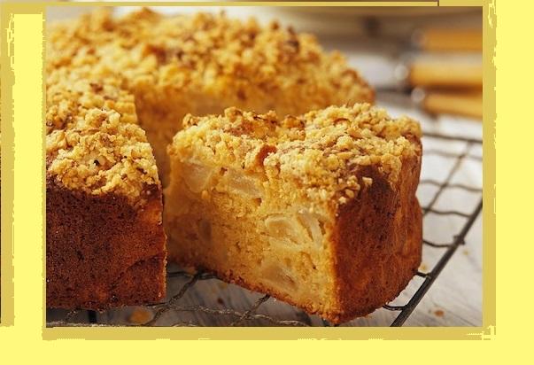 Gâteau de Pommes au Crumble
